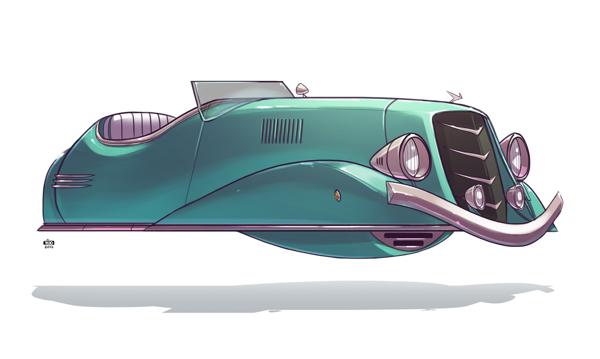 Ido Yehimovitz art car drawings Ze Future