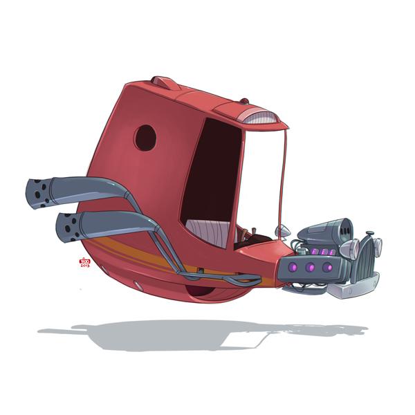 Ido Yehimovitz art car drawings Ze Future _002