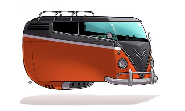 Ido Yehimovitz art car drawings Ze Future _009
