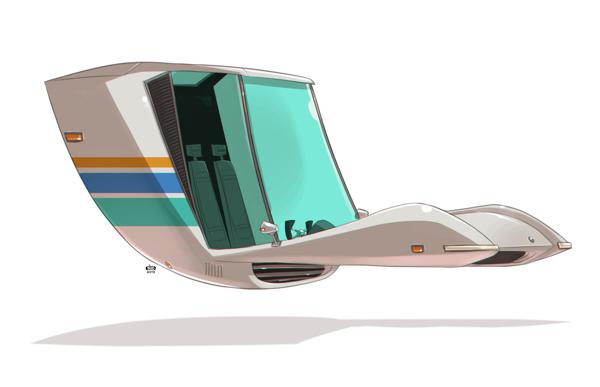 Ido Yehimovitz art car drawings Ze Future _013