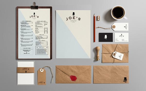 Trevor Finnegan Joe's Coffee branding design _001