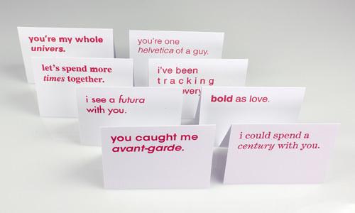 Typographic Valentines trypography card design _000