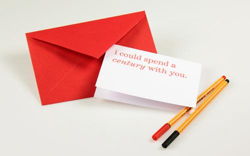 Typographic Valentines trypography card design _003