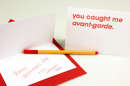 Typographic Valentines trypography card design _006