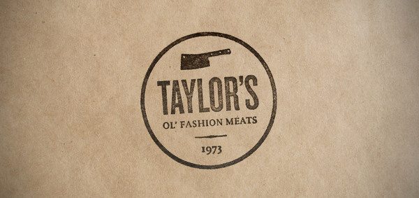 Jeff Rauch Taylor's Ol' Fashion Meats branding design _000