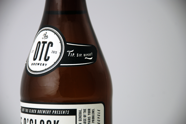 Off The Clock Brewing Company branding design by jj miller _006