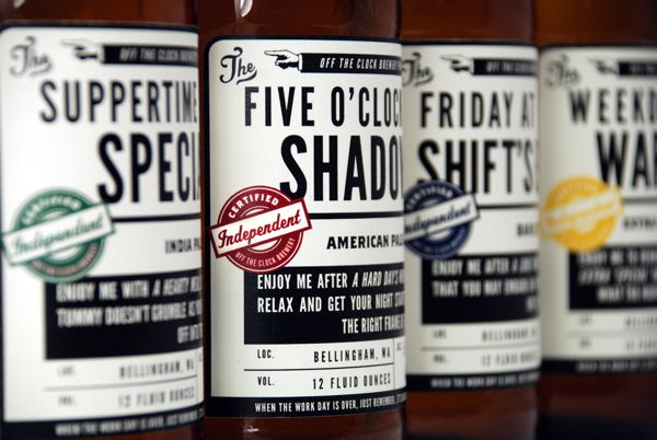 Off The Clock Brewing Company branding design by jj miller _007