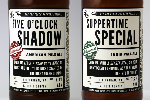 Off The Clock Brewing Company branding design by jj miller _010