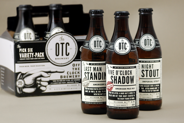 Off The Clock Brewing Company branding design by jj miller _014