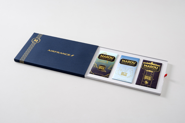 Marou Chocolate for Air France rice creative packaging design _001