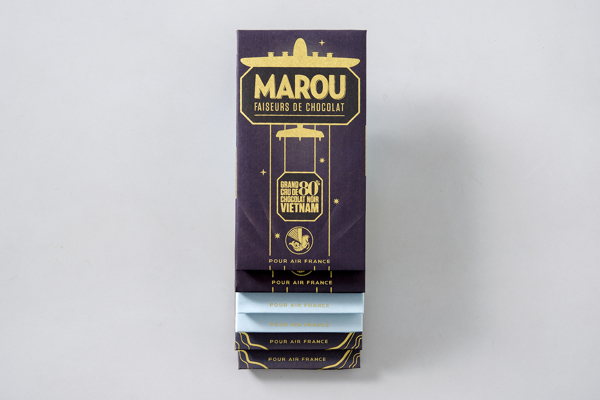 Marou Chocolate for Air France rice creative packaging design _006