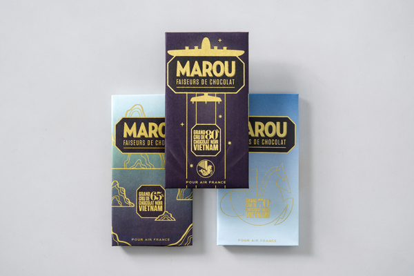 Marou Chocolate for Air France rice creative packaging design _007