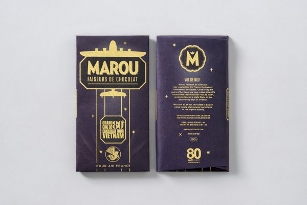 Marou Chocolate for Air France rice creative packaging design _010
