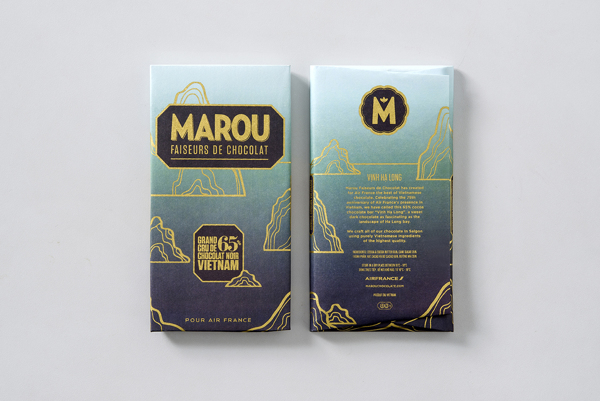 Marou Chocolate for Air France rice creative packaging design _011