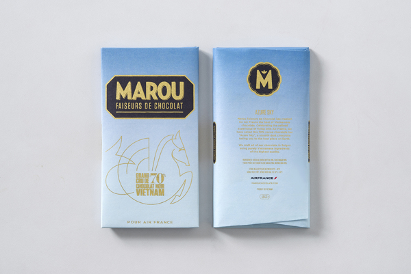 Marou Chocolate for Air France rice creative packaging design _012
