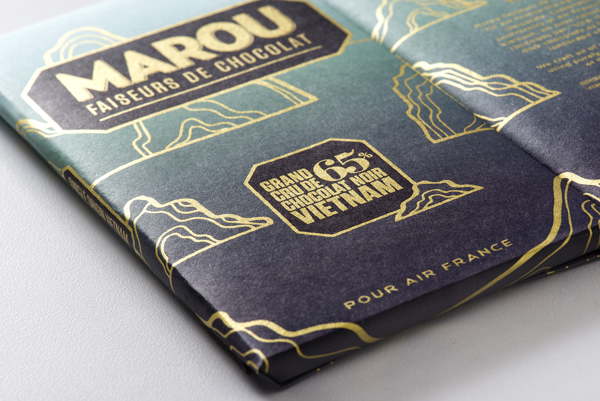 Marou Chocolate for Air France rice creative packaging design _014