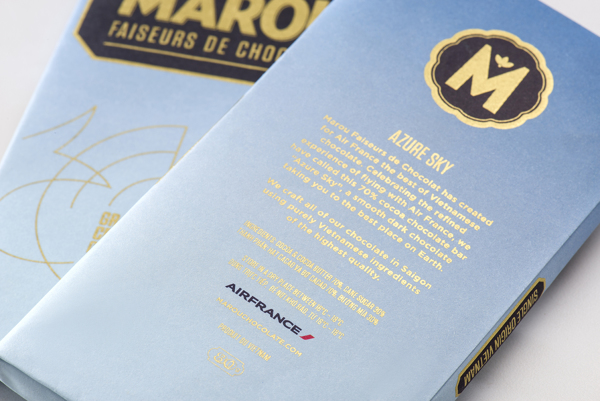 Marou Chocolate for Air France rice creative packaging design _015