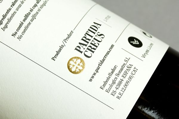PARTIDA CREUS by Lo Siento wine bottle packaging design _005