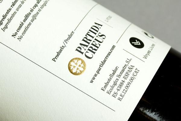 PARTIDA CREUS by Lo Siento wine bottle packaging design _005