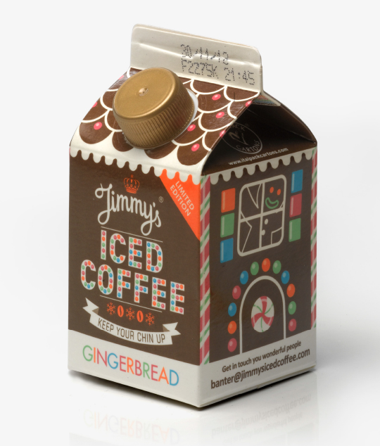 interabang jimmy's iced coffee packaging and Branding