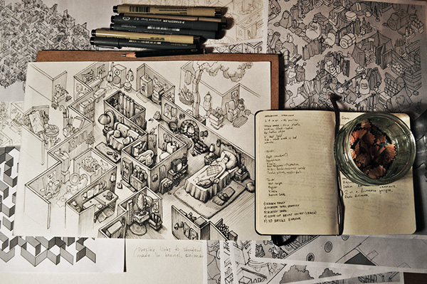 Ink Maze illustrations for Saatchi & Saatchi AMS Design Studio Blog_001