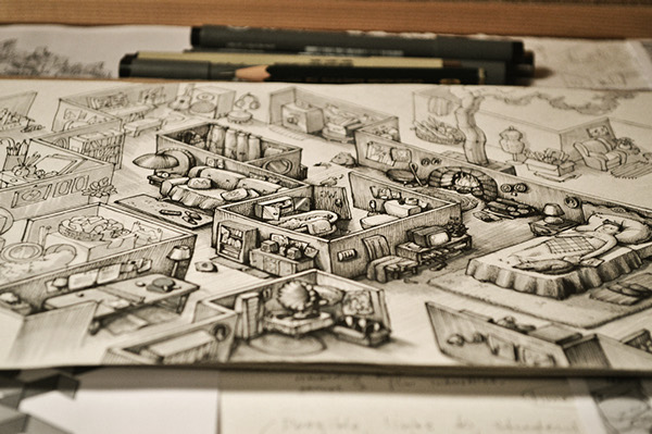 Ink Maze illustrations for Saatchi & Saatchi AMS Design Studio Blog_002