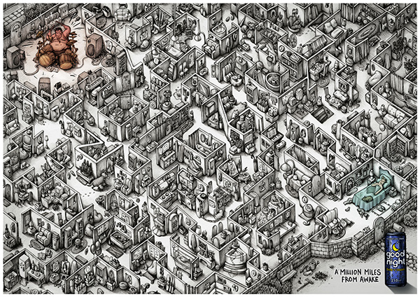 Ink Maze illustrations for Saatchi & Saatchi AMS Design Studio Blog_003